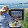 Janis Ellison of Haystack Gallery Painting at Plein Air & More