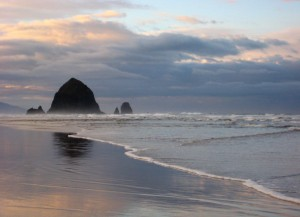 Cannon Beach Winter by Explorer Media Group