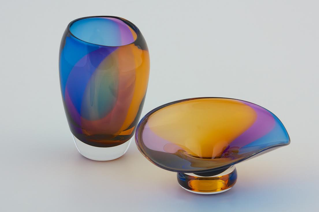 Cool Color Bowls by Mark Gordon at Icefire Glassworks
