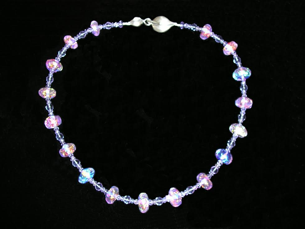 Neodimium Necklace by Pam Juett at Icefire Glassworks