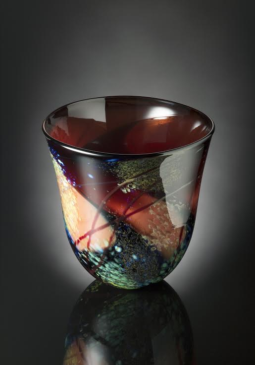 Autumn Leaves Bowl by Suzanne Kindland at Icefire Glassworks