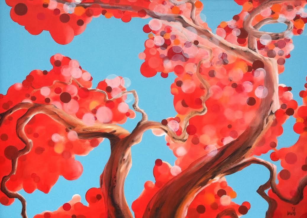 Red Rain by David Jonathan Marshall at Modern Villa Gallery