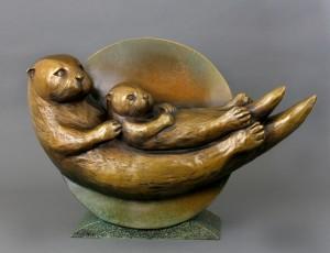 """""""Otter Moon II"""" by Georgia Gerbe"""
