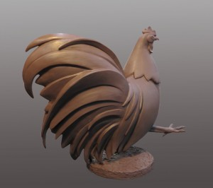 Heather Solderberg Phoenix Rooster Clay for Bronze