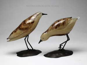 "Janet Nicholson ""Shorebirds"" Blown Glass"