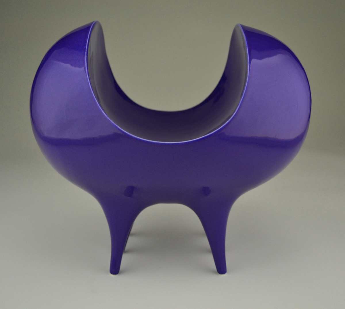 Blue Bite Bowl by Eric Boos at White Bird Gallery
