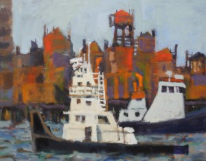 Hi Res.  Two Tugs, 40 x 50 in