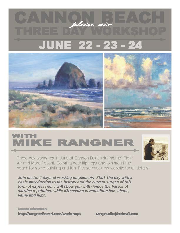 cannon beach workshop flyer